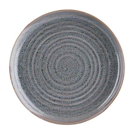 Housedoctor Assiette plate en faïence grise Nord Ø28cm
