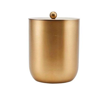 Housedoctor Eiskübel Alir Gold Stahl Ø12x14,5cm