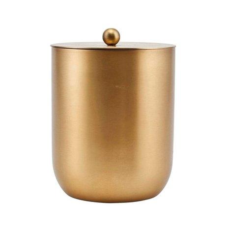 Housedoctor Ijsemmer Alir goud staal Ø12x14,5cm