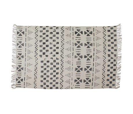 BePureHome Teppich Stempel aus weiß grau 160x240cm