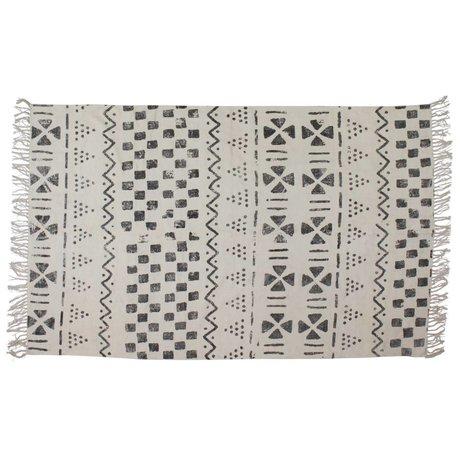 BePureHome Tapis à tampon blanc gris 70x140cm