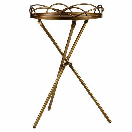 BePureHome Side table Filmy antique brass gold metal 54x36x36cm