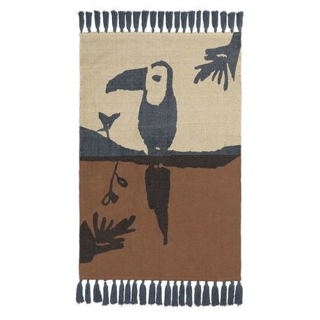 NOFRED Rug Toucan brown cotton 100x150cm