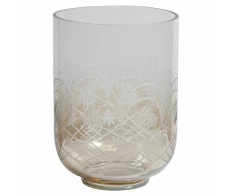 BePureHome Vase Heirloom L glass with brown gloss 27,5x20x20cm