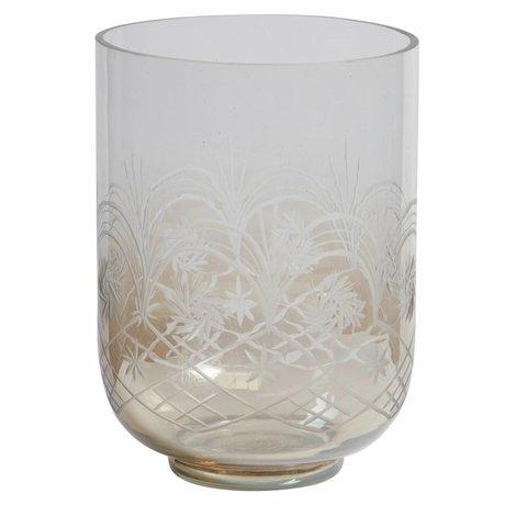 BePureHome Vase Heirloom L verre brun brillant 27,5x20x20cm