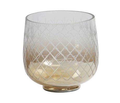 BePureHome Vase Heirloom M Glas mit braunem Glanz 21x22x22cm