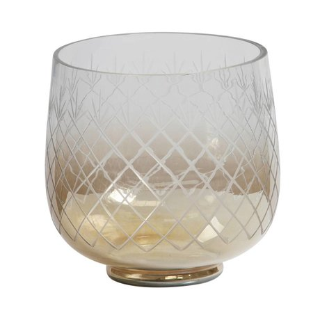 BePureHome Vase Heirloom M glass with brown gloss 21x22x22cm