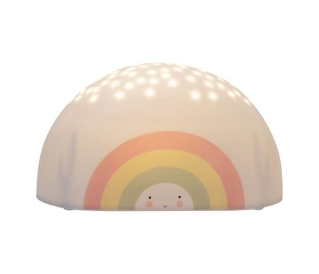 A Little Lovely Company Projector licht Rainbow multicolour bpa en ftalaat vrij PVC 17,2x9x8,7cm