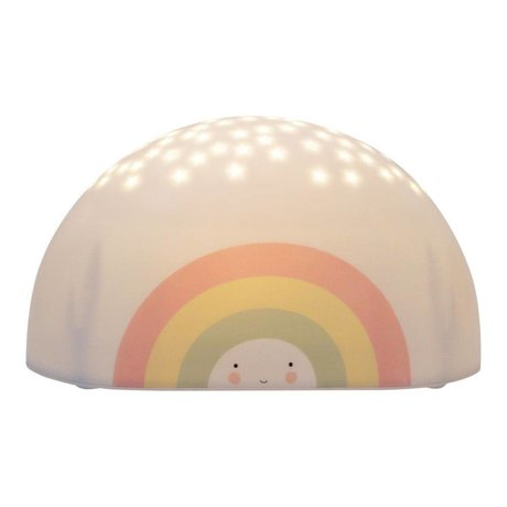 A Little Lovely Company Projector light Rainbow multicolour bpa and phthalate free PVC 17,2x9x8,7cm