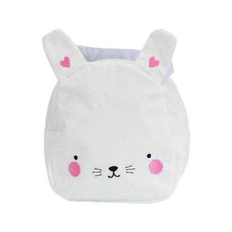 A Little Lovely Company Handtasche Kaninchen weiß rosa Acryl 16x19x11,5cm
