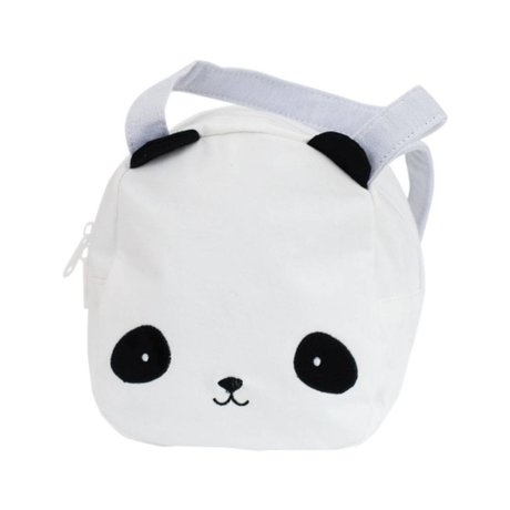 A Little Lovely Company Handbag Panda white black acrylic 16x19x11,5cm