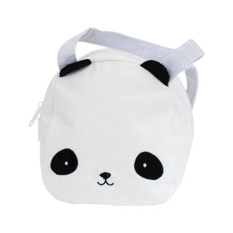 A Little Lovely Company Handtasche Panda weiß schwarz Acryl 16x19x11,5cm