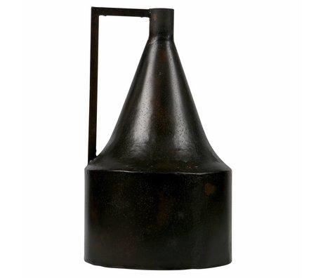 BePureHome Vaas jug donker bruin metaal 38x23x23cm