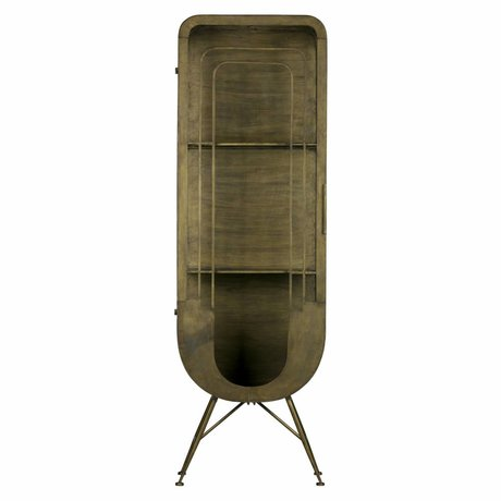 BePureHome Kast Matrix 1-deurs antiek brass goud metaal 189x61x44cm
