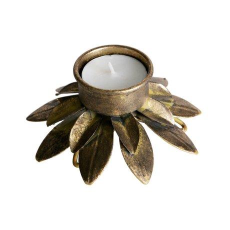 BePureHome Waxinelichthouder antiek brass goud metaal 5,5x10,5x10,5cm