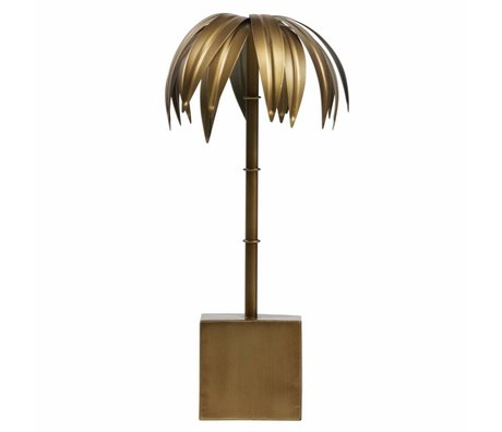 BePureHome Palm M antique brass gold metal 40x19x19cm