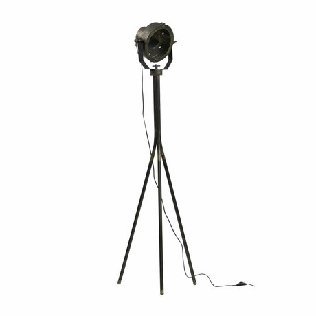 BePureHome Stehlampe Theater antik Messing gold schwarz Metall 170x50x43cm