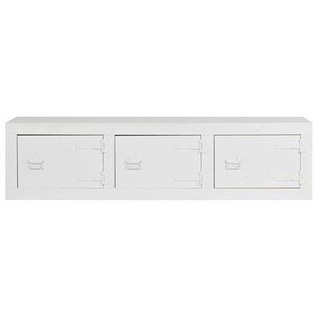vtwonen Bank Tv meubel Bunk depot wit grenen bandzaag 177x41x45cm