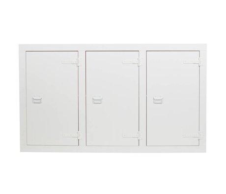 vtwonen Scie à ruban en pin blanc avec armoire de lit superposé 177x41x102cm