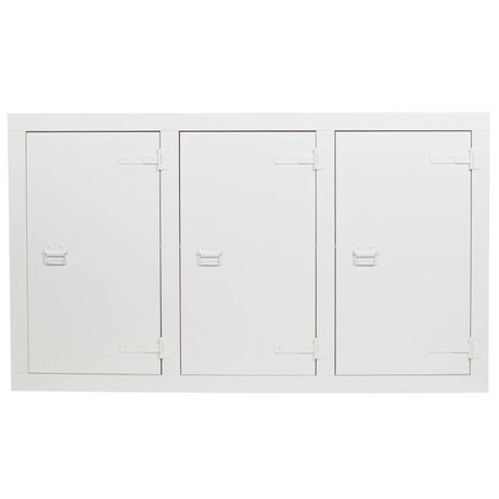 vtwonen Dressoir Bunk cabinet wit grenen bandzaag 177x41x102cm
