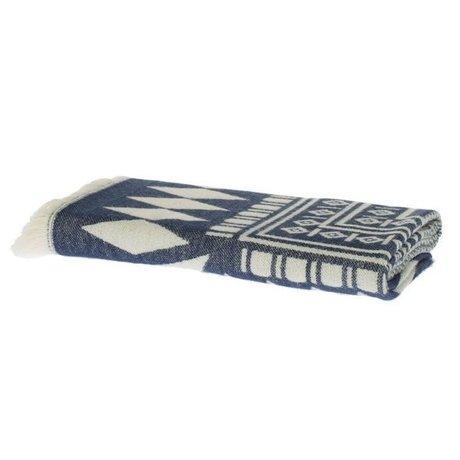 Riverdale Plaid Aztec dark blue cotton 130x180cm