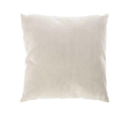 Riverdale Coussin Ribcord textile gris clair 45x45cm