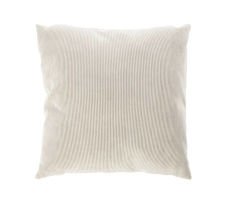 Riverdale Throw pillow Ribcord light gray textile 45x45cm