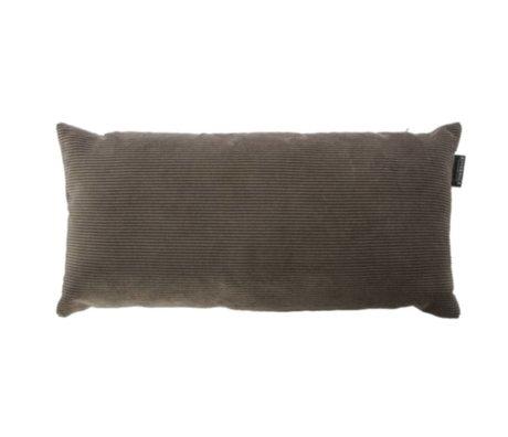 Riverdale Coussin Ribcord textile gris foncé 25x50cn