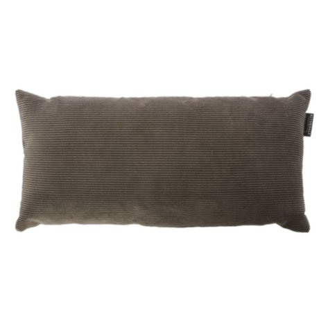 Riverdale Throw pillow Ribcord dark gray textile 25x50cn