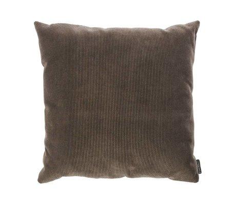 Riverdale Coussin Ribcord textile gris foncé 45x45cm