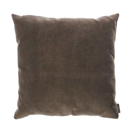 Riverdale Dekokissen Ribcord dunkelgrau Textil 45x45cm