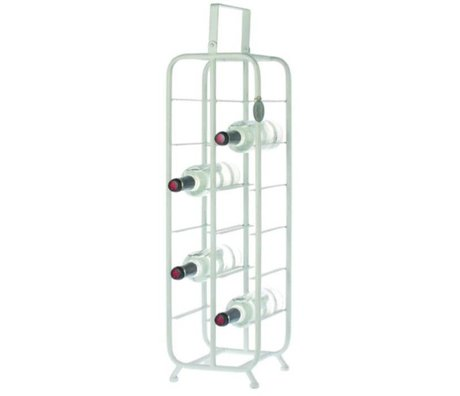 Riverdale Wine rack Chelsea white metal 23,5x23x88cm