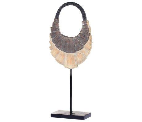 Riverdale Ornament Necklace bruin kunststof metaal 55cm