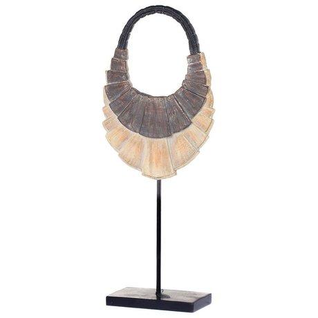 Riverdale Ornament Necklace brown plastic metal 55cm