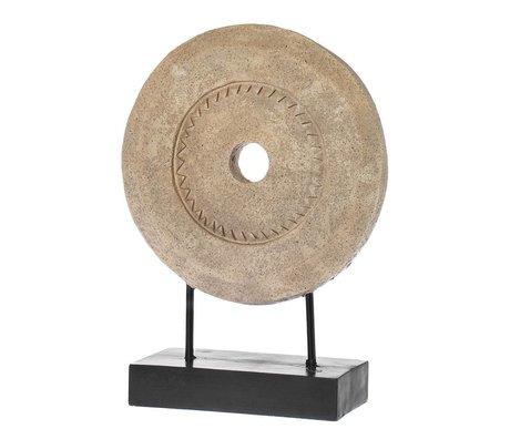 Riverdale Ornament Millstone bruin polyresin 46cm