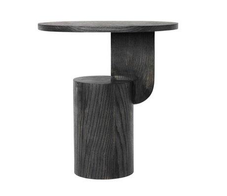 Ferm Living Sidetable Insert zwart hout 49x34x50cm