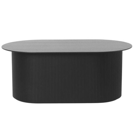 Ferm Living Table basse en bois noir 95x55x40cm