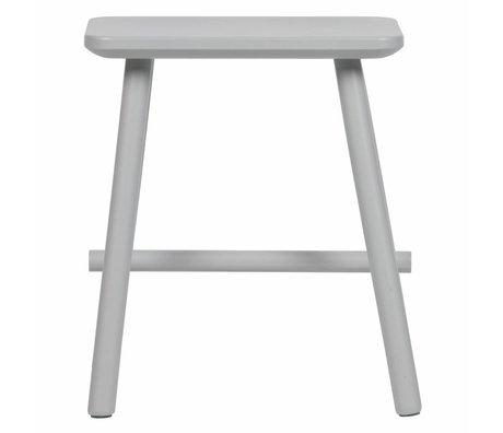 vtwonen Kruk Butt beton grijs hout 40x30x46,5cm