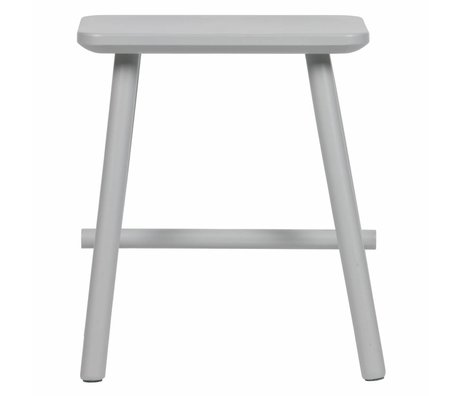 vtwonen Stool Butt concrete gray wood 40x30x46,5cm
