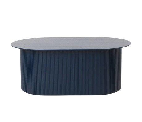 Ferm Living Table basse en bois bleu foncé 95x55x40cm