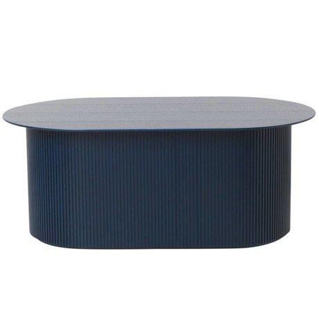Ferm Living Couchtisch inszeniert dunkelblaues Holz 95x55x40cm