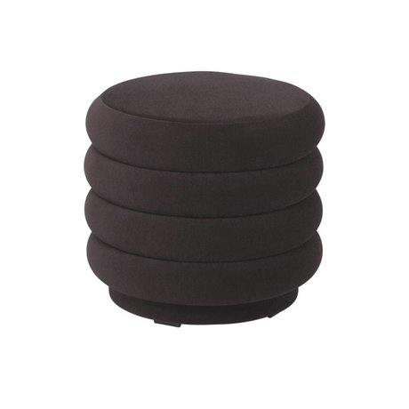 Ferm Living Pouf Round chocolate brown velvet S Ø42x40cm