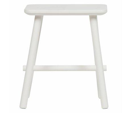 vtwonen Kruk Butt wit hout 40x30x46,5cm