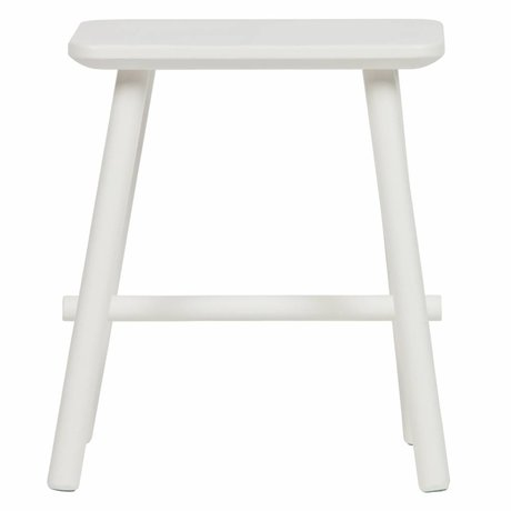 vtwonen Stool Butt white wood 40x30x46,5cm