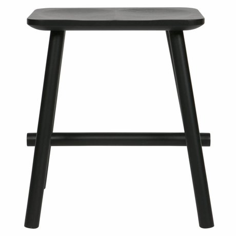 vtwonen Kruk Butt zwart hout 40x30x46,5cm