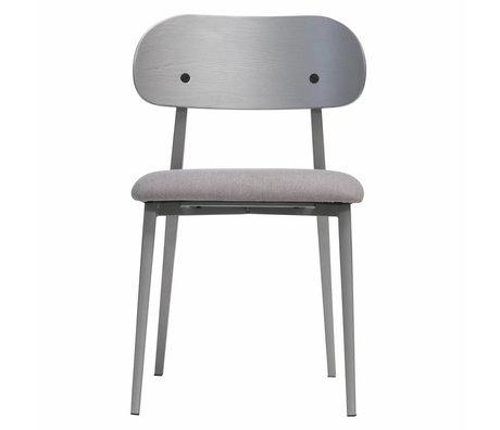 vtwonen Chaise de salle à manger classe textile en bois gris set de 2