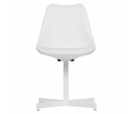 vtwonen Dining chair Flow white plastic textile set of 2