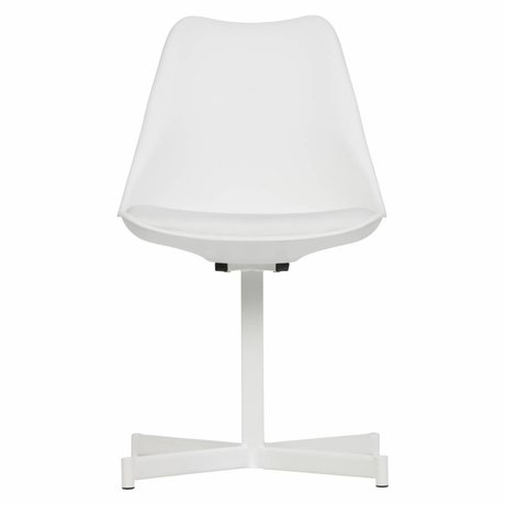 vtwonen Chaise de table Flow en plastique blanc, lot de 2