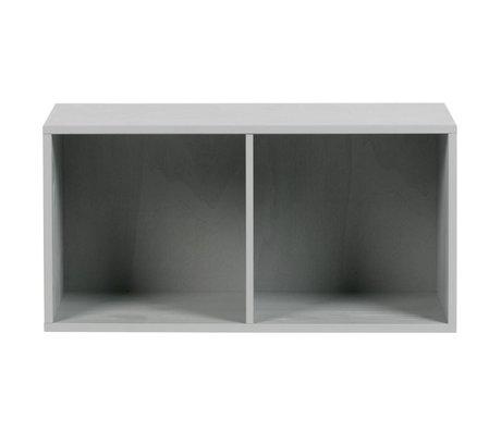 vtwonen Stapelbox 2 offene Fächer aus Beton graues Holz 81x35x41cm