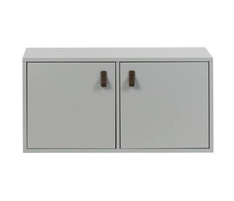 vtwonen Stapelkast 2 drs vakken beton grijs hout 81x35x41cm